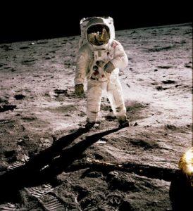 Buzz Aldrin on Luna